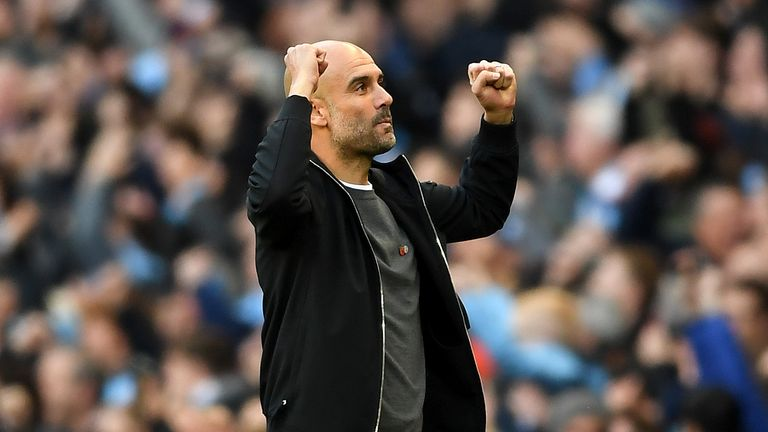 Pep Guardiola's Manchester City side are unbeaten in 15 matches