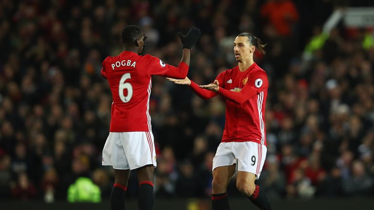 Paul Pogba and Zlatan Ibrahimovic are in line to return this weekend
