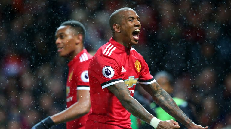Ashley Young has two goals for Manchester United this season