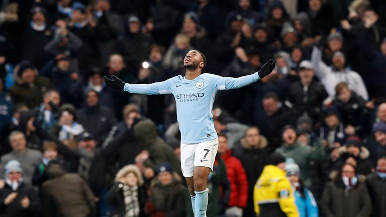 Raheem Sterling has been in stunning form for Man City this season