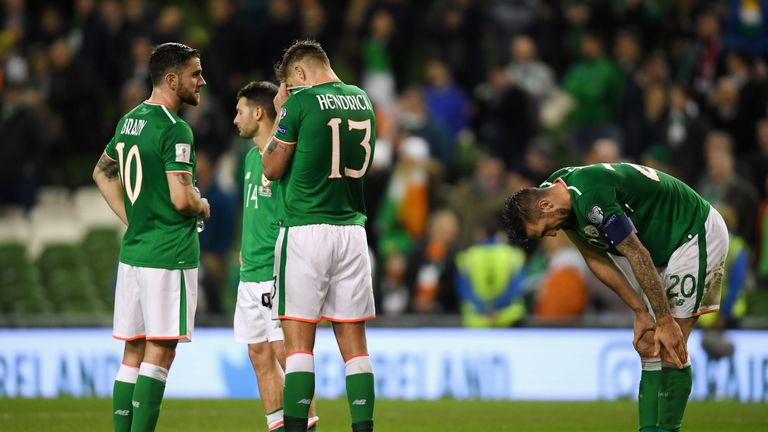 Ireland lost 5-1 to Denmark which saw them crash out of the World Cup play-offs