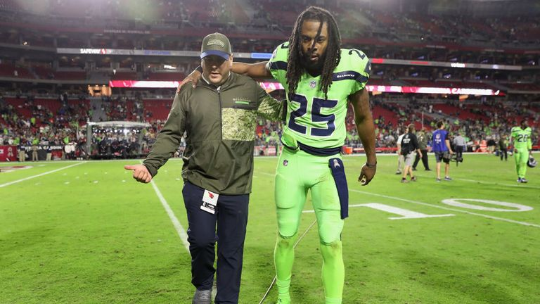 Richard Sherman injured his Achilles during his final season with the Seattle Seahawks in 2017