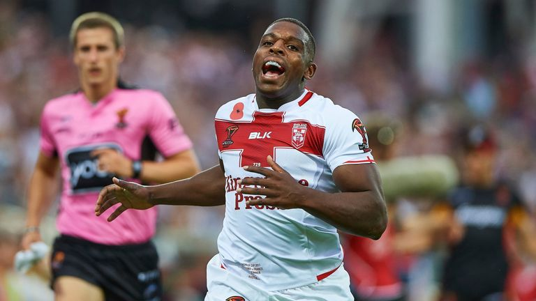 Jermaine Mcgillvary scored twice in England's World Cup victory over France last November