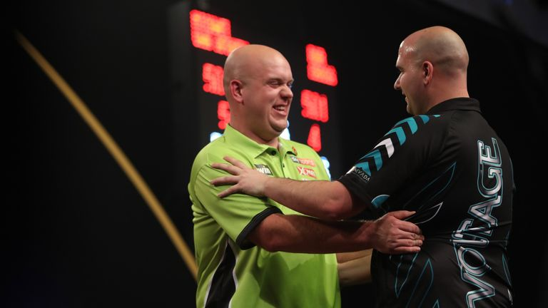 Rob Cross and Michael van Gerwen could be on course for a final at the Players Championship in Minehead this weekend