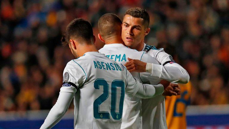 Cristiano Ronaldo scored twice in the 6-0 win over APOEL Nicosia