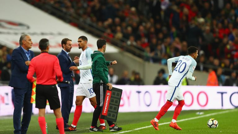 Ruben Loftus-Cheek was substituted after 35 minutes for England on Tuesday due to a back problem