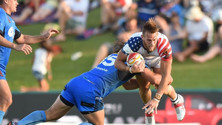 USA winger Ryan Burroughs featured for the Toronto Wolfpack during the 2017 season