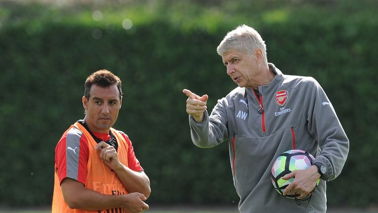Cazorla is yet to be offered a new deal by manager Arsene Wenger
