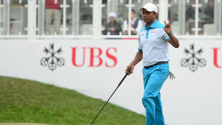S.S.P Chawrasia holds the halfway lead at the Hong Kong Open