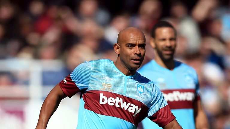 Trevor Sinclair (foreground) made 184 appearances for West Ham between 1998 and 2003
