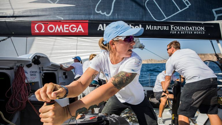 Italian sailor Francesca Clapcich has competed at two Olympic Games (Jen Edney/Volvo Ocean Race)