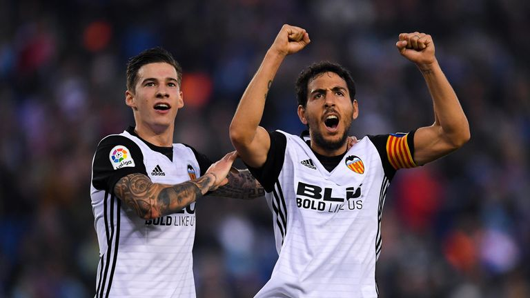 Dani Parejo (right) was sent off for an elbow on Jorge Molina