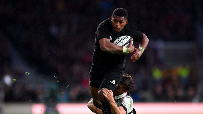 Waisake Naholo has scored 16 tries in 26 Tests for the All Blacks