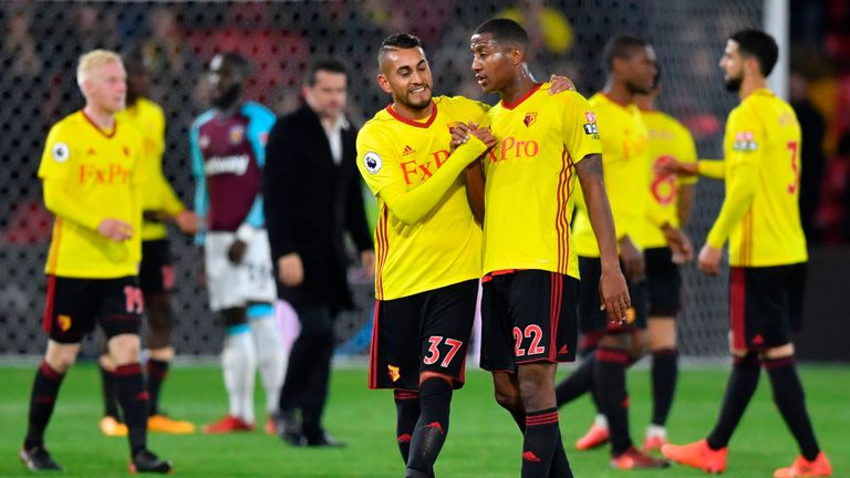 Marvin Zeegelaar (right) is leaving Watford on loan