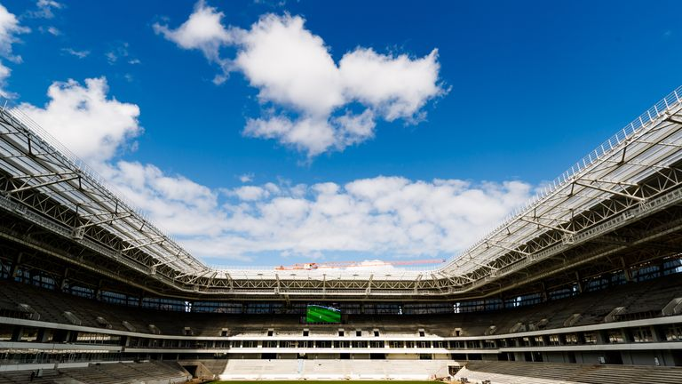 The Kaliningrad stadium will host England's final group game against Belgium