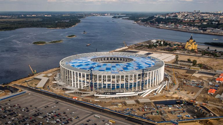 The Nizhny Novgorod Stadium in Russia is one of the venues that will stage games at next year's World Cup
