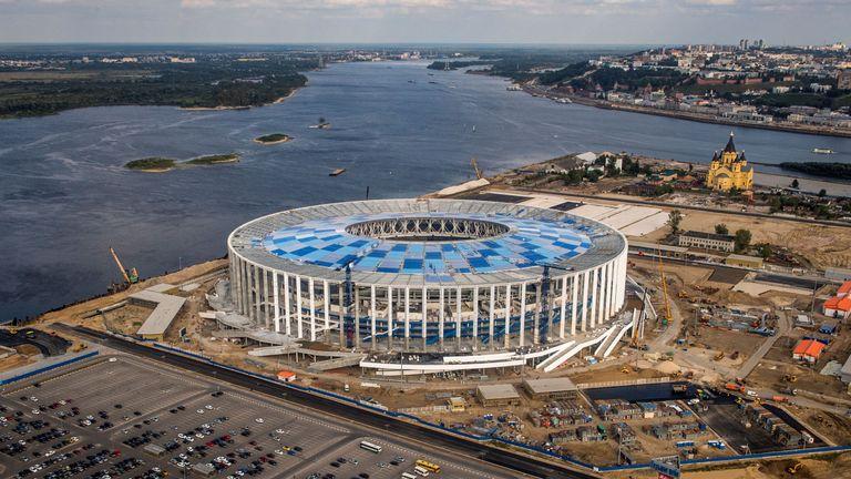 England will face Panama at the Nizhny Novgorod Stadium in Russia