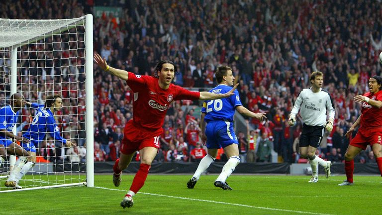 Jose Mourinho refuses to accept Luis Garcia's goal went over the line in the Champions League semi-final meeting at Anfield back in 2005