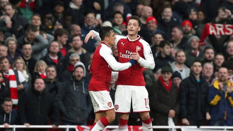 Alexis Sanchez and Mesut Ozil are out of contract this summer
