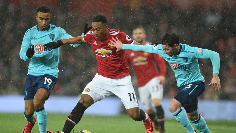 Martial has been linked with a move to Tottenham