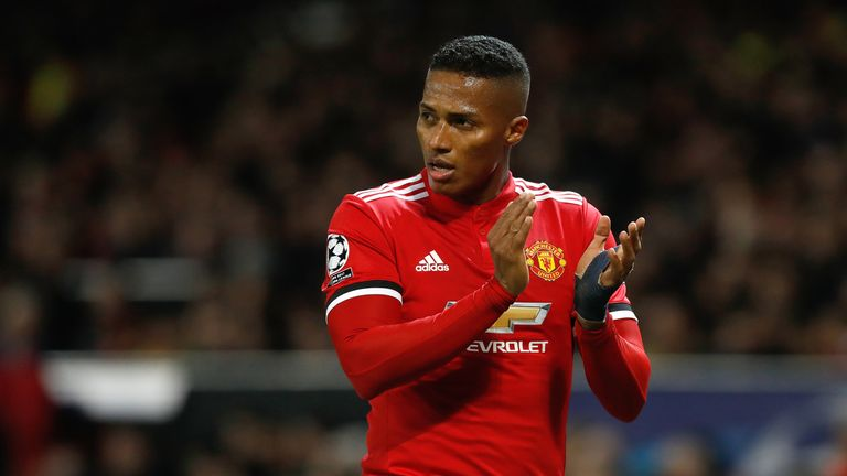 Manchester United's Antonio Valencia came off injured against West Brom