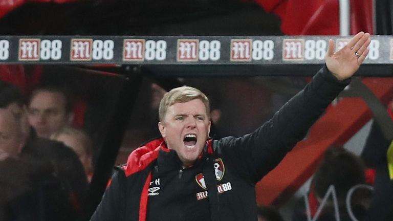 Bournemouth manager Eddie Howe made eight changes to his side to face Wigan
