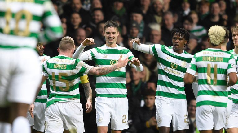 Michael Lustig fired Celtic on their way to victory