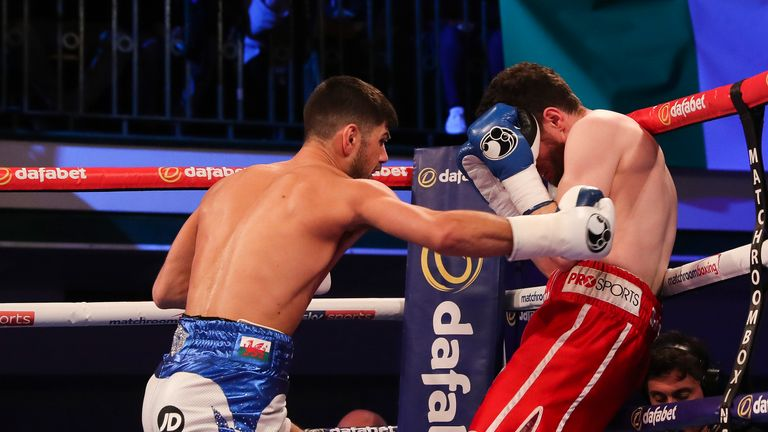 Cordina dominated Connelly from the first bell