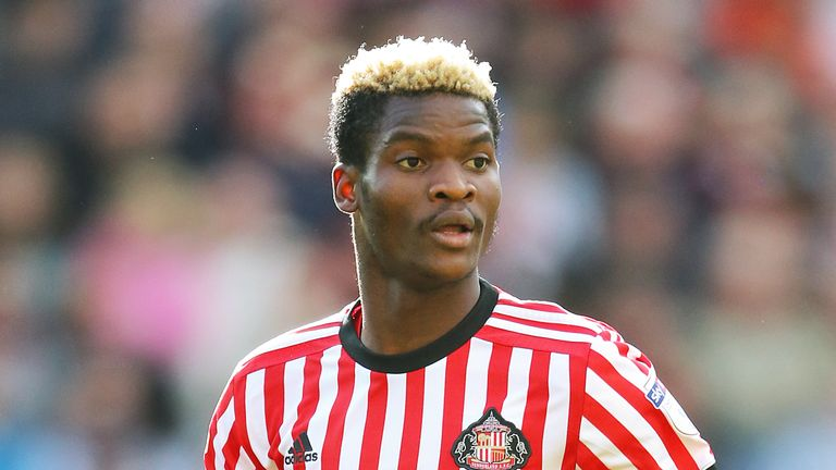 Didier Ndong was sent off after 49 minutes at Cardiff City Stadium