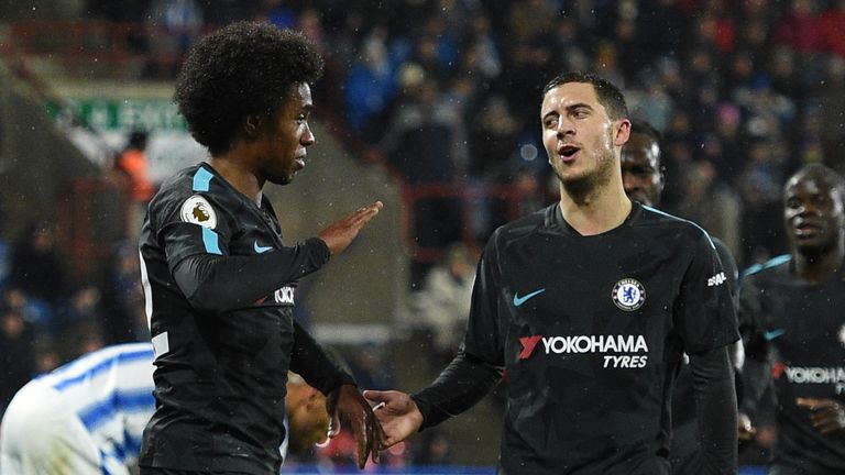 4f3a22808 Willian keen to beat 'humble' Eden Hazard when Brazil take on ...