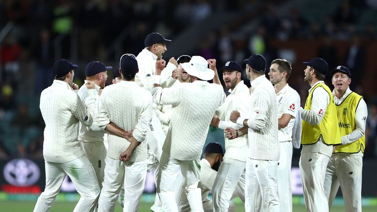 England took four wickets late in the day after Smith's decision not to enforce the follow-on