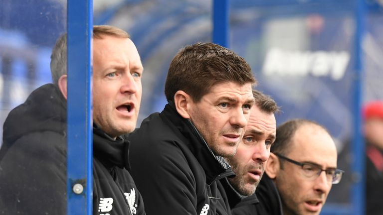 Gerrard watched his Under-19 side claim a 2-0 win