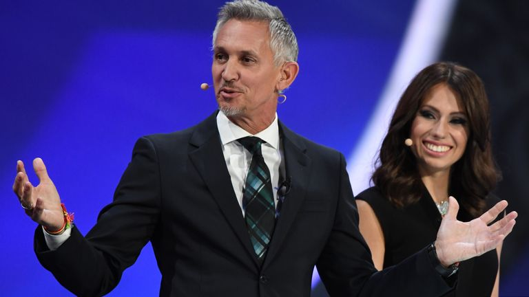 Gary Lineker wore a rainbow bracelet while hosting the FIFA World Cup draw at The Kremlin earlier this month