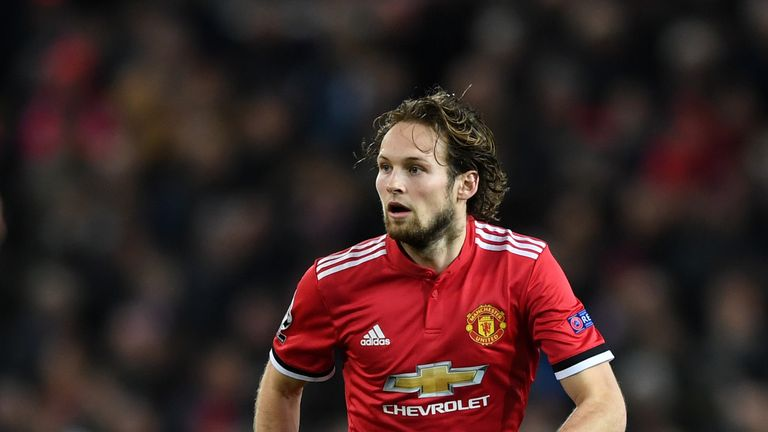 Roma are in talks with Manchester United about the transfer of left-back Daley Blind