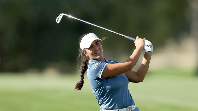Kelsey Macdonald is in second place after two rounds of 68
