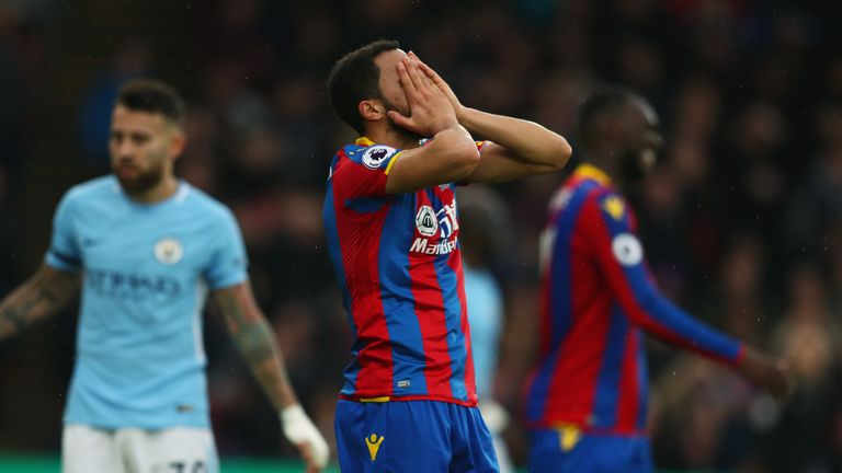Andros Townsend missed a late chance for Crystal Palace