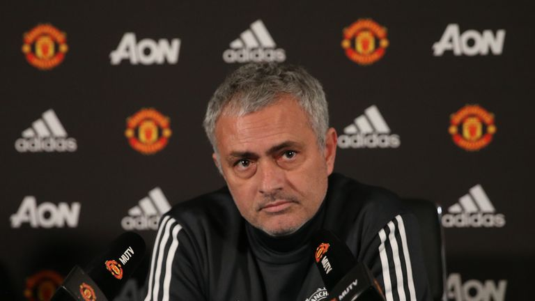 Jose Mourinho was speaking ahead of Man Utd's clash with Stoke on Monday Night Football