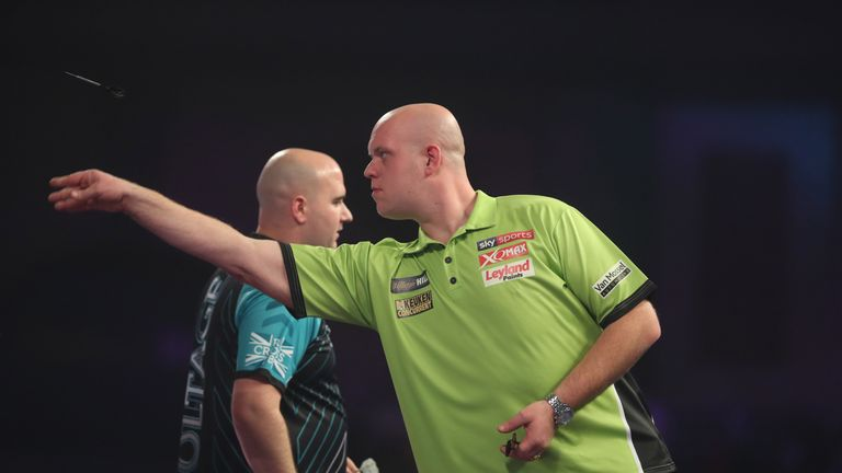 Cross and Van Gerwen both averaged in excess of 100 during the match
