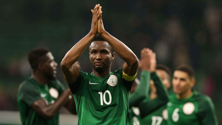 Nigeria have been drawn in Group D for the World Cup