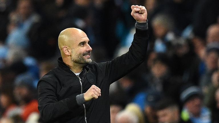 Pep Guardiola won September and October's manager of the month awards.