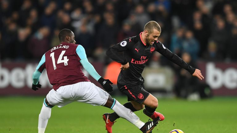 Jack Wilshere spurned an opportunity in the second half, in what was his first PL start for Arsenal in 19 months