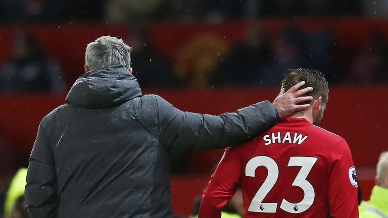 Mourinho brought Shaw off at half-time