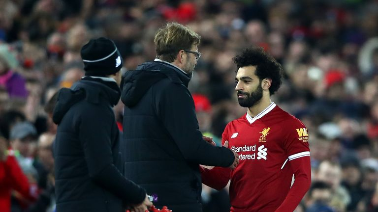Mohamed Salah is a doubt for the game at Burnley with a knock