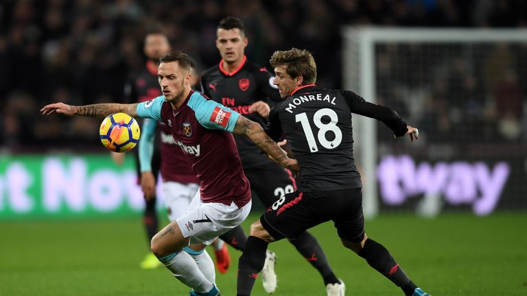 Marko Arnautovic put in a strong performance for West Ham after scoring the winner against Chelsea on the weekend