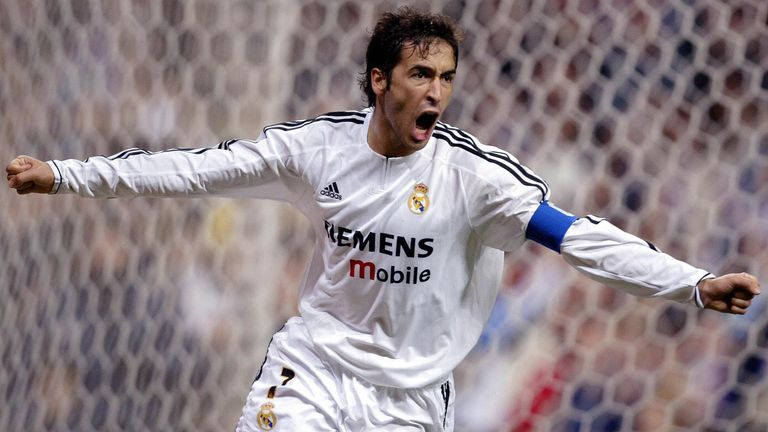Raul is described as the 'eternal captain' on the club's website