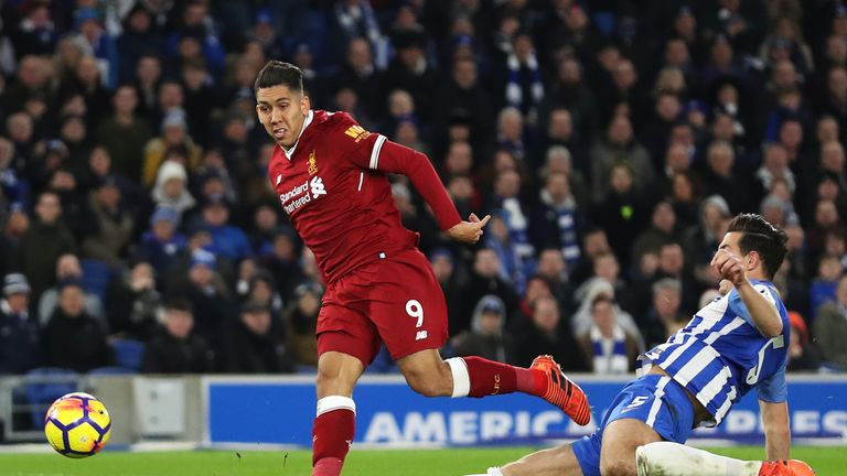 Roberto Firmino scores Liverpool's third goal after a swift counter attack