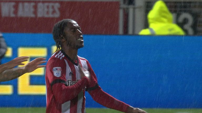 Romaine Sawyers drilled home Brentford's opener