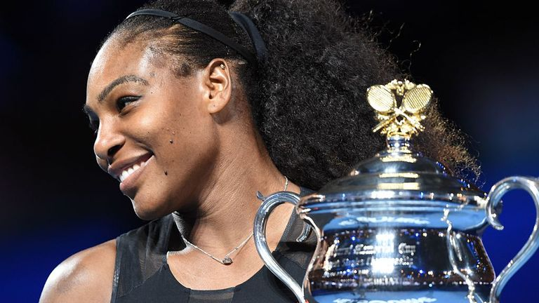 Serena Williams won the Australian Open in 2017