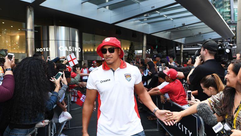 Tonga's Sio Siua Taukieaho with fans