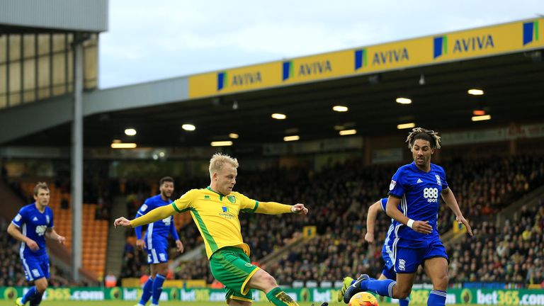 Naismith made three appearances for Norwich in August before suffering an ankle injury